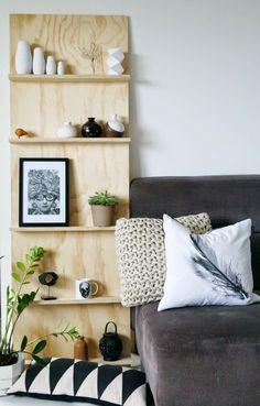 Déco-récup // 4 idées bricoleuses pour transformer une planche en bois en pièce…