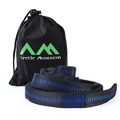 Arctic Monsoon Hammock Tree Straps with Fast & Easy Adjustable Loops (Pack of 1)