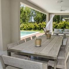 galeria: Jardines de invierno de estilo Moderno por Parrado Arquitectura Home Decor Furniture, Outdoor Furniture Sets, Outdoor Decor, Style At Home, Coffee Table To Dining Table, Casa Patio, Room Goals, Deco Design, Simple House