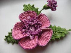 Materiales gráficos Gaby: Flor tejida