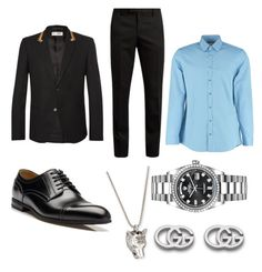 """""""Jk"""" by noches on Polyvore featuring Yves Saint Laurent, Gucci, Rolex, men's fashion and menswear"""