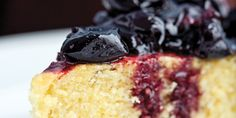 To make the best use of your time, prepare the deceptively delicious cherry sauce while the corn cake is baking. The cake is best served either warm or at room temperature, with the stewed cherries spooned over the top. Since frozen cherries are available year-round, you'll never need to wait for cherry season to enjoy this dessert.