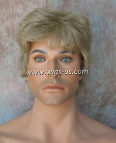 """""""Jay HH by Wig America - 100% human hair was used in the creation of the Jay HH by Wig America. Soft to the touch, and easily styled in any direction needed. Wear the style down, or simply place in some hair product for a unique look you can call your own. The layered fibers are just the right length for men to feel comfortable in. Sideburns come down covering the ears, and the back tapers at the neck."""""""