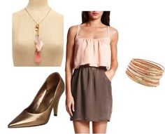 ShopStyle: brown peach gorgeous outfit by Rubyblue99