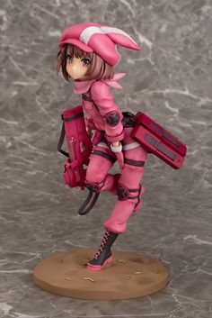 From the ongoing hit anime, Sword Art Online Alternative: Gun Gale Online comes the heroine of the anime Llenn. It stands 20 cm tall and comes in a window box Gun Gale Online, Schwertkunst Online, Online Anime, Sword Art Online Figures, Dream Anime, Sao Ggo, Otaku, Chibi, Art En Ligne