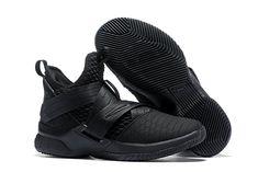 "2a772e879b57 Nike LeBron Soldier 12 ""Triple Black"" Basketball Shoes For Sale Online"