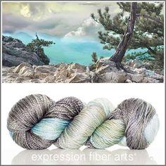 Mountain Air - luster merino tencel worsted yarn - Expression Fiber Arts