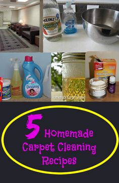 How to make a natural carpet cleaning solution pinterest carpet 5 homemade carpet cleaning recipes solutioingenieria Choice Image