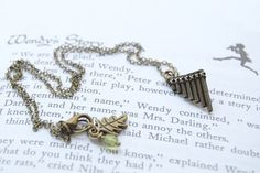Peter Pan Flute Pipes Necklace by EnchantedLeaves on Etsy
