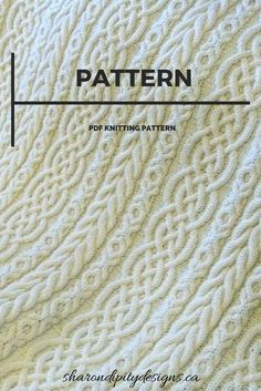 52ca0377bda PDF Knitting Pattern for the Celtic Aran Afghan by SharondipityDesigns  Filtmönster