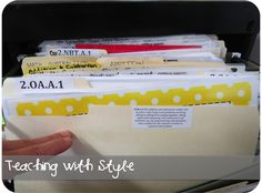 Good post on organizing files: label and file by standard!