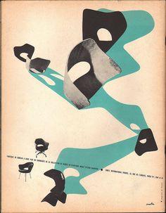 Herbert Matter Knoll ad, L'ŒIL magazine 1956.