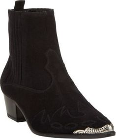 Saint Laurent Duckies Western-Style Ankle Boots on shopstyle.com