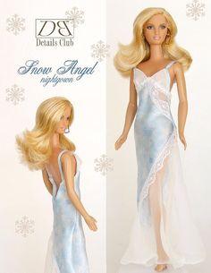Patron de couture pour poupée de 11 1/2Barbie: par DBDollPatterns