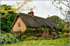 Sandy Lane, Calne - Cottage by thatched roof-look is so charming Fairytale Cottage, Storybook Cottage, Garden Cottage, Cottage House, Forest Cottage, Lush Garden, English Country Cottages, English Country Gardens, English Countryside