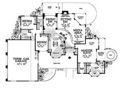 I like the open living areas Home Plans HOMEPW14809 - 2,086 Square Feet, 3 Bedroom 2 Bathroom Home with 3 Garage Bays