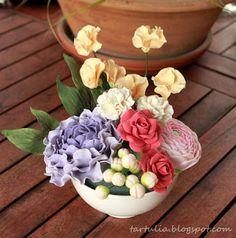 Bouquet de flores de azucar/ Gum paste flowers bouquet