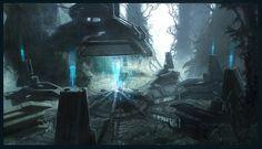 Halo 3 Concept Art, Frank Capezzuto III on ArtStation at https://www.artstation.com/artwork/halo-3-concept-art