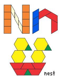 Jessica's Alphabet Pattern Block Templates
