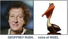 *GEOFFREY RUSH, voice of NIGEL ~ Finding Nemo (2003)
