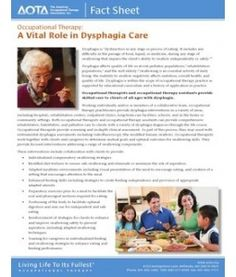 OT role in Dysphagia Care