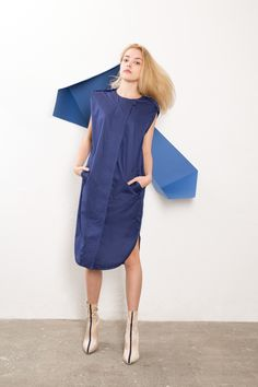 IMRECZEOVA SS18 blue shirt dress with quilted front 60 Degrees, Blue Shirt Dress, Cold Shoulder Dress, Shirts, Dresses, Fashion, Vestidos, Moda, La Mode