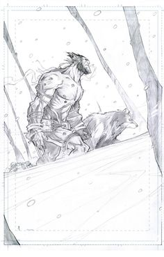 Wolwerine - pencils by John Timms