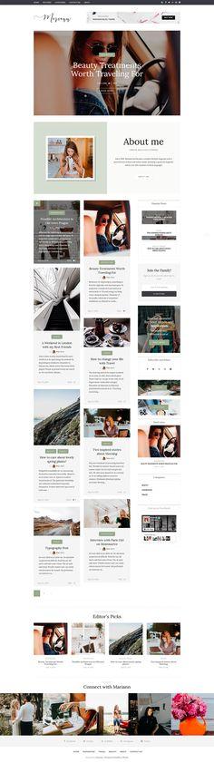 10 temas de WordPress para blogs de moda | Web desing and Template