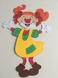 Mizan - Welcome my homepage Hand Crafts For Kids, Art For Kids, Diy And Crafts, Arts And Crafts, Paper Crafts, Clown Crafts, Heart Cards, Craft Materials, Paper Piecing