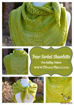 1 Skein Project and Free Knitting Pattern: Pear Sorbet by MarlyBird.com