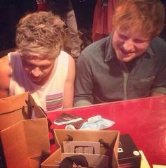 NIALL AND ED BACKSTAGE OH GOD