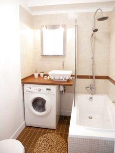 Vuoi ricavare una lavanderia in casa? Ti racconto come organizzare la tua lavanderia (anche in pochi mq! Tiny Bathrooms, Tiny House Bathroom, Bathroom Design Small, Laundry In Bathroom, Bathroom Interior Design, Bathroom Sets, Bathroom Storage, Modern Bathroom, Small Bathroom With Window