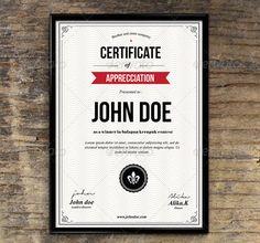 35 Best Certificate Template Designs Print Design, Web Design, Certificate Design Template, Certificate Of Appreciation, Award Certificates, Graphic Design Inspiration, Design Ideas, Print Templates, Designs