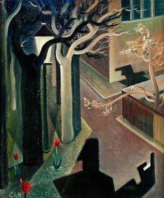 """GÖSTA ADRIAN-NILSSON, """"Skuggspel, (Vårljusskymning)"""" (Shaddows, twilight). Signed GAN, also signed Gösta Adrian-Nilsson on verso. Exe.... - Spring Modern Auction, Stockholm 560 – Bukowskis"""