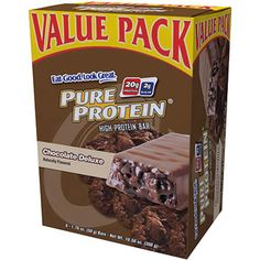 Pure Protein Chocolate Deluxe High Protein Bars, 1.76 oz, 6 count