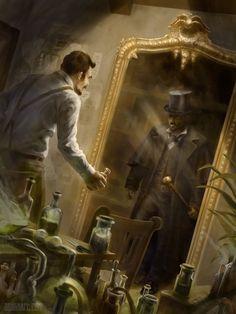 Dr. Jekyll and Mr. Hyde, Oswin Neumann on ArtStation at https://www.artstation.com/artwork/dr-jekyll-and-mr-hyde