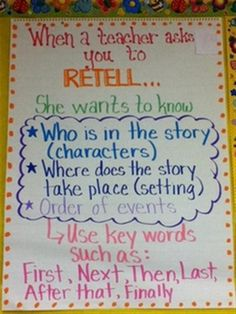Retelling anchor chart (picture only)