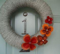 wreath - love the flowers
