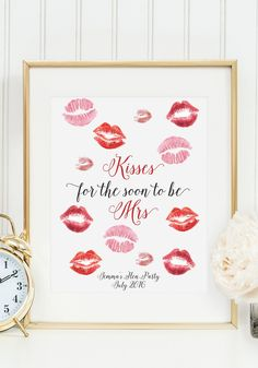 kisses for the soon to be mrs