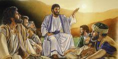 Jesús instruyendo a sus seguidores