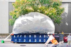 NYC dumpster turned inflatable classroom for urban education