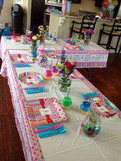 Kids cupcake birthday party