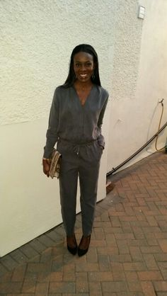 22.9.14 Gemmas Birthday Meal. Rocking The Grey Jumpsuit X