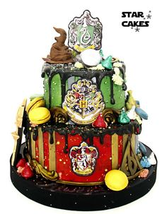 Harry Potter Hogwarts themed Drip Cake - Cake by Star Cakes