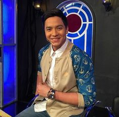 Alden Richards as DJ Bae in SPS Maine Mendoza, Alden Richards, Embedded Image Permalink, Hashtags, Bae, People, Models, Inspiration, Templates