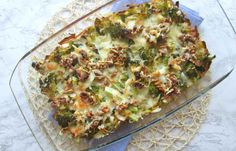 koolhydraatarme ovenschotel met broccoli