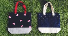 Two Tone Everyday Tote: Black Cam & Anchor Blue