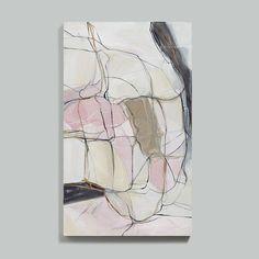 Temptation Blush Taupe Abstract Art