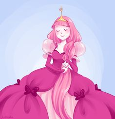 Still drawing Adventure Time! Here's Princess Bubblegum, seemingly okay about losing her hair. More AT: