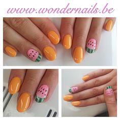Water melon nails ... Yummie :)